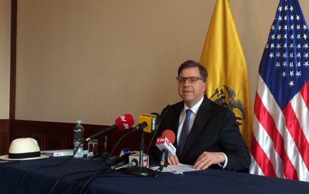 """""""Ecuador es un aliado nuestro en las Américas, es un país amigo de mucho tiempo"""", dijo Chapman. Foto: Twitter"""