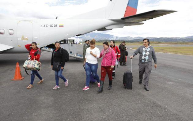 Comisión ecuatoriana arriba a Pasto-Colombia, junto con familiares de Katty Velasco.