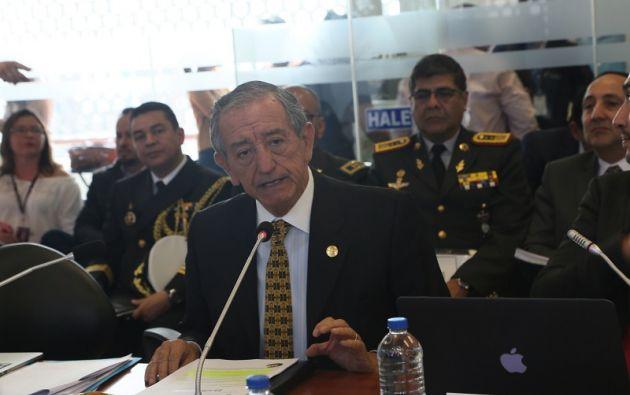 """""""Tanto la seguridad, la tranquilidad como la paz han vuelto a la frontera norte de Ecuador"""", indicó Jarrín."""