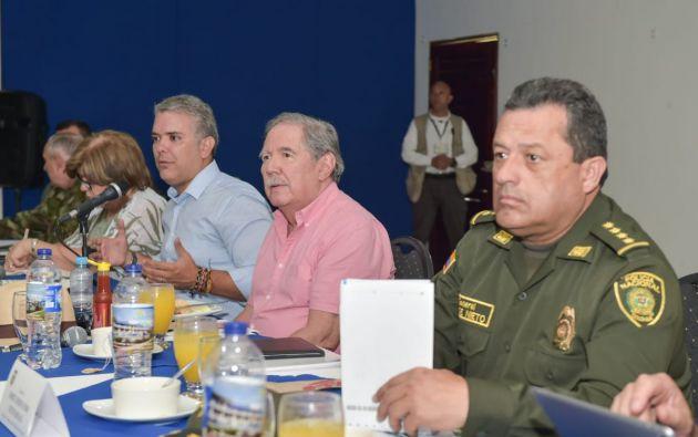 """TUMACO, Colombia.- """"Aquí tenemos que, todos, ponernos la camiseta y decirle a 'Guacho' que se le acabó la guachafita"""", dijo Duque. Foto: Guillermo Botero."""