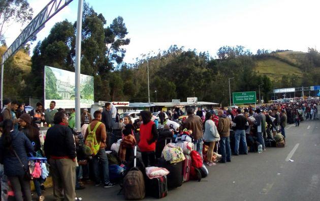 Hay aproximadamente un millón de venezolanos a Ecuador, según ministro del Interior. Foto: Twitter