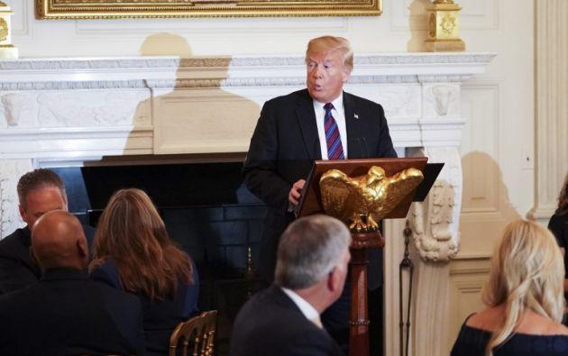 """Los demócratas """"van a anular todo lo que hicimos y lo harán rápido y de manera violenta"""", dijo el mandatario. Foto: AFP"""