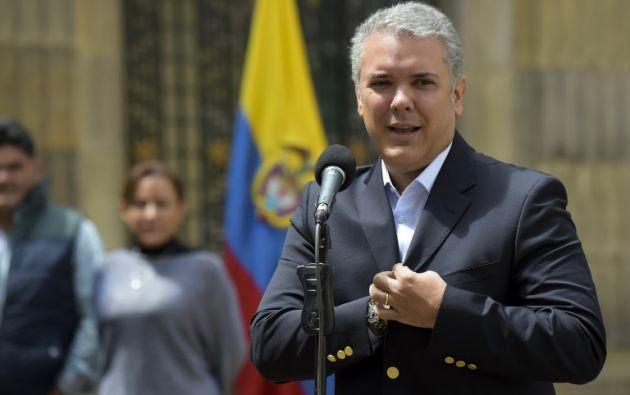 """Duque abogó por una estrategia que """"aísle diplomáticamente"""" al gobierno de Maduro. Foto: AFP"""