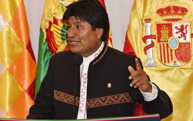 Morales, en el poder desde 2006, anticipó que se presentará a las primarias de su partido. Foto: AFP