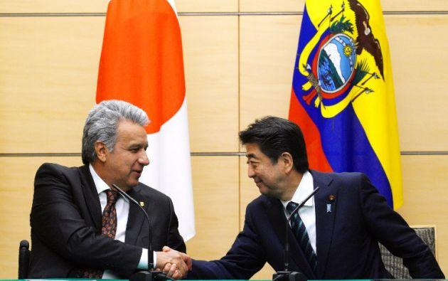 Se trata de la primera ayuda financiera reembolsable ofrecida por Japón a Ecuador en dos décadas. Foto: AFP
