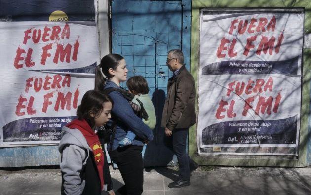 Un punto a favor de Argentina es el respaldo explícito que ha recibido del Fondo Monetario Internacional. Foto: AFP