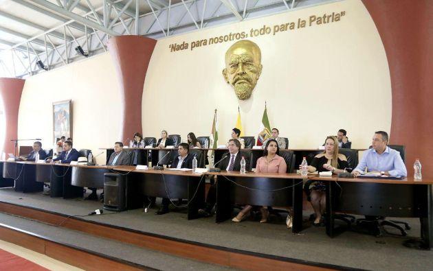 La mesa legislativa se trasladó este lunes, 24 de septiembre, a la ciudad de Montecristi. Foto: Asamblea Nacional