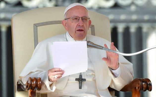 """El papa criticó la supresión de la vida en el vientre materno """"en nombre de la salvaguarda de otros derechos"""". Foto: AFP"""