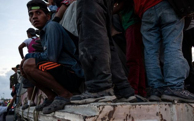 La caravana, que partió el 13 de octubre de Honduras, se dirige a Ciudad de México. Foto: AFP