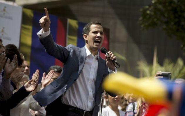 El discurso de Guaidó tuvo reiterados llamamientos a la Fuerza Armada Nacional Bolivariana para que respalde las acciones de la Legislativo. Foto: Reuters