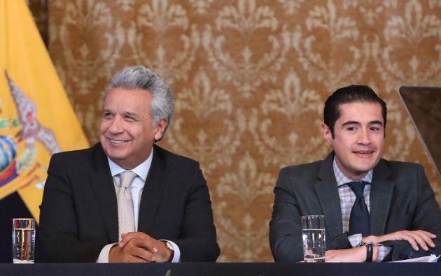 El presidente de la República, Lenín Moreno, y el ministro de Economía y Finanzas, Richard Martínez. Foto: Flickr Presidencia
