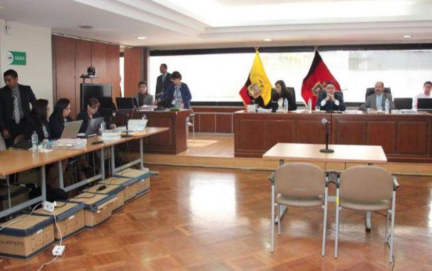 La audiencia de juzgamiento se reinstaló con la presencia de la fiscal general en funciones, Ruth Palacios. Foto: Fiscalía