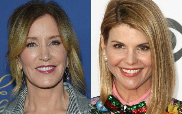Figuran las actrices Felicity Huffman y Lori Loughlin, para facilitar el acceso de sus hijos a prestigiosas universidades. Foto: AFP