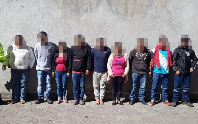 """Una docena de individuos fueron aprehendidos en el operativo """"Avalancha 120"""". Foto: Policía Nacional."""