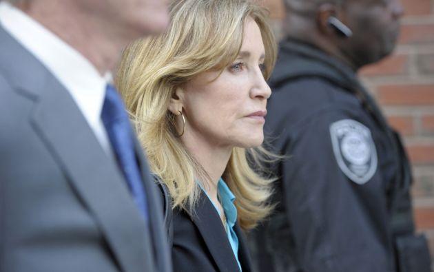 Huffman encara una pena máxima de 20 años de cárcel por el delito de transferencia fraudulenta de fondos. Foto: AFP