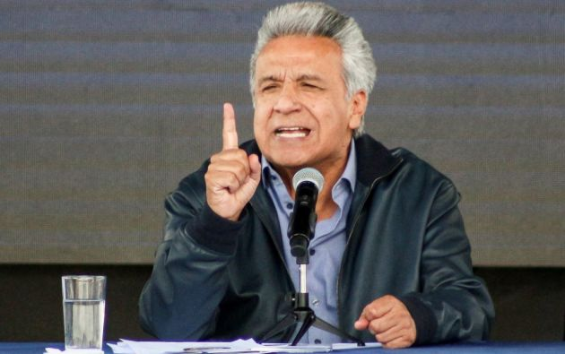 """""""Le hemos quitado el asilo a este malcriado y ventajosamente nos hemos librado de una piedra en el zapato"""", dijo Moreno. Foto: AFP"""