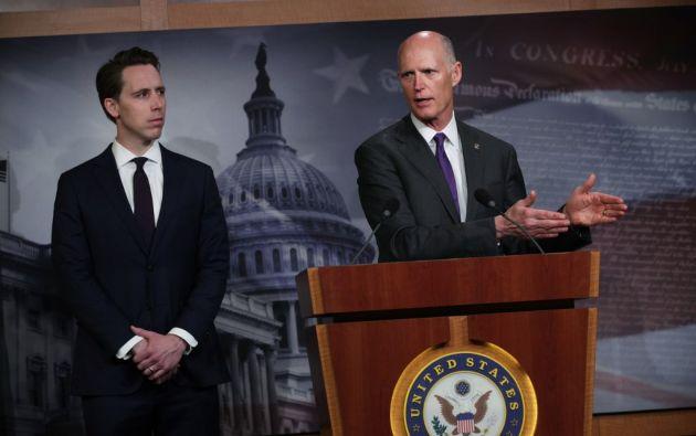 """Scott enfatizó que el país """"necesita comenzar a considerar el uso de recursos militares para brindar ayuda"""". Foto: AFP"""