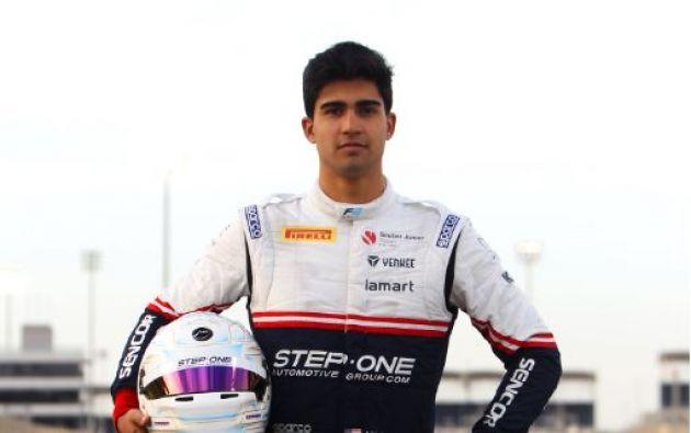 Juan Manuel Correa Borja tiene 19 años y corre en la Fórmula 2 con la escudería Sauber Junior Team.