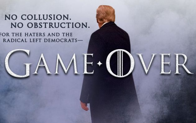 Trump usó un montaje que imita la estética -incluida la tipografía- de la popular serie que el pasado domingo comenzó su última temporada.