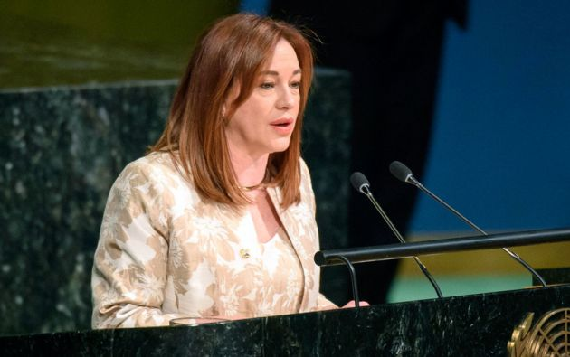 La exministra de Exteriores optó por no pronunciarse sobre el proceso en su contra impulsado en la Asamblea Nacional.