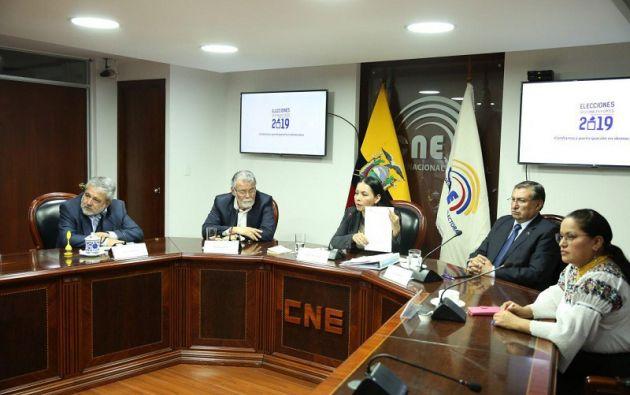 """El CNE agregó que """"una vez que esta investigación concluya será trasladada hasta la Fiscalía General del Estado"""". Foto: CNE"""
