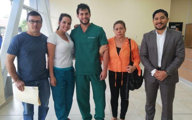 Rosado fue detenido ayer, 15 de mayo, durante una protesta protagonizada por los estudiantes de medicina de la Universidad de Guayaquil.