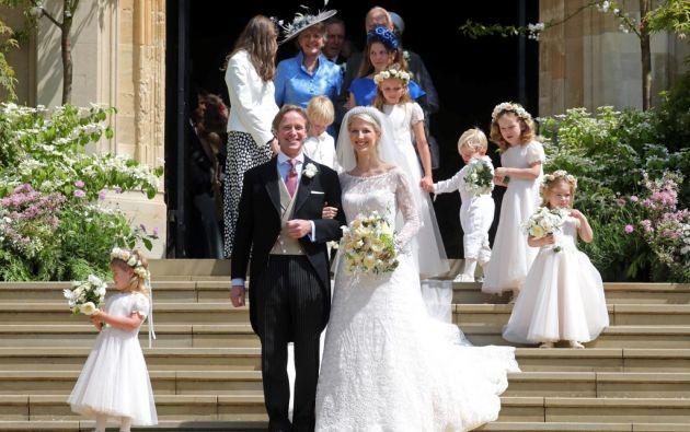 Gabriella Windsor, de 38 años, es hija del primo mayor de la reina Isabel. Foto: AFP