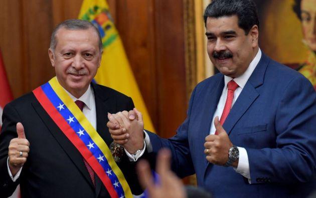"""Recept Tayyip Erdogan y Nicolás Maduro. Un negocio """"fructífero"""" desde 2016."""