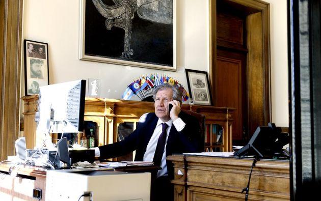 Para ser reelegido, Almagro necesitaría 18 votos, es decir, una mayoría simple. Foto: OEA
