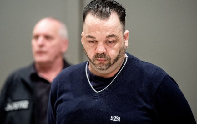 Niels Högel, este jueves, durante el juicio en la localidad alemana de Olderburg. Foto: Reuters.