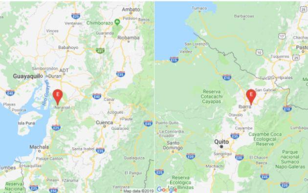 Imágenes de los últimos dos sismos registrados en Ecuador por el Instituto Geofísico.