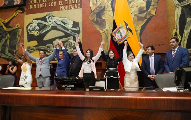 Los nuevos miembros del CPCCS definitivo durarán cuatro años en funciones.