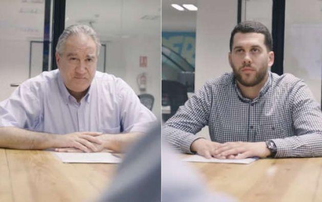 El video enseña las dificultades que su padre encontraba en entrevistas de trabajo.