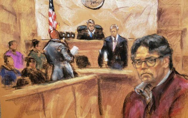 El juicio del gurú de autoayuda estadounidense Keith Raniere, acusado de liderar una secta con esclavas sexuales. Foto: Reuters.
