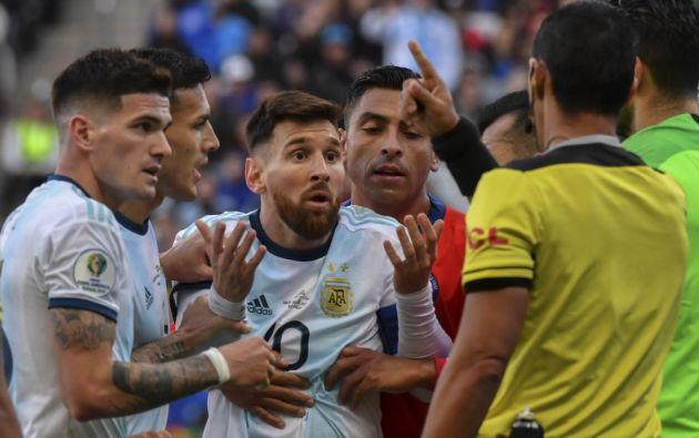 """""""Creo que nosotros no tenemos que hacer parte de esa corrupción"""", dijo Messi. Foto: AFP"""