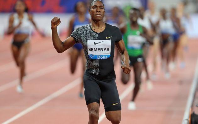 La batalla de Caster Semenya con el organismo gobernante del atletismo mundial sobre las regulaciones para reducir el nivel de testosterona para las atletas femeninas probablemente tendrá ramificaciones duraderas para la definición de género en el deporte en general. Foto: AFP
