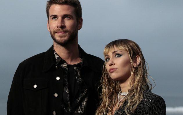 """""""Liam y Miley decidieron separarse"""", indicó el representante la cantante de 26 años. Foto: AFP"""