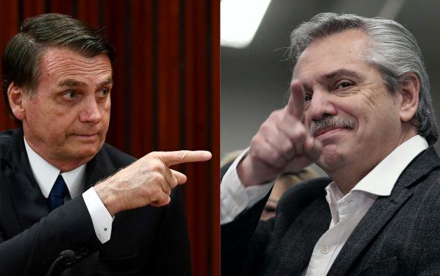 Jair Bolsonaro y Alberto Fernández multiplicaron los enfrentamientos desde la victoria del candidato peronista en las elecciones primarias en Argentina.