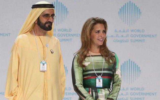 Rompiendo con las tradiciones, Haya de Jordania abandona a su riquísimo esposo el emir de Dubai Mohammed bin Rashid y pide asilo en Inglaterra. Foto: AFP.