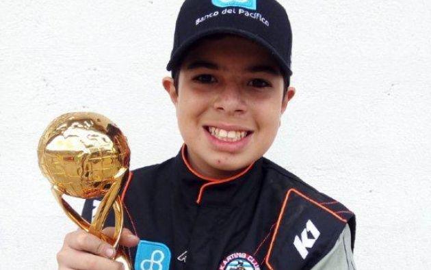 Leo Drouet con apenas 12 años se mide a los mejores del mundo en Le Mans (Francia).