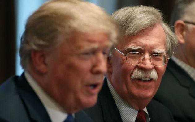 """Trump acusó el pasado mes de mayo a Bolton de querer meterle """"en una guerra"""" en Venezuela. Foto: AFP."""