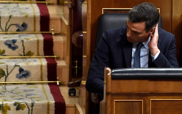 Pedro Sánchez reconoció que no podría conseguir los apoyos necesarios para iniciar un nuevo mandato. Foto: AFP.