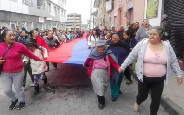 """La protesta ha adquirido el lema de """"Carchi resiste"""" en redes sociales."""