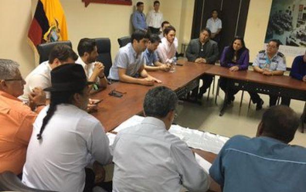 El vicepresidente Otto Sonnenholzner se reunió en Guayaquil con representantes del sector productivo. Foto: Vicepresidencia.