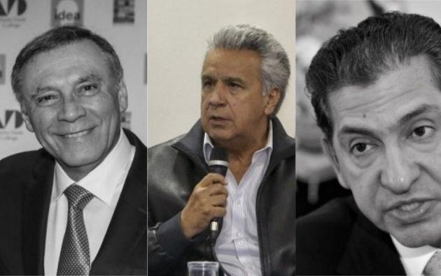 Los exmandatarios Jamil Mahuad y Lucio Gutiérrez forman parte de IDEA. Foto: collage Vistazo