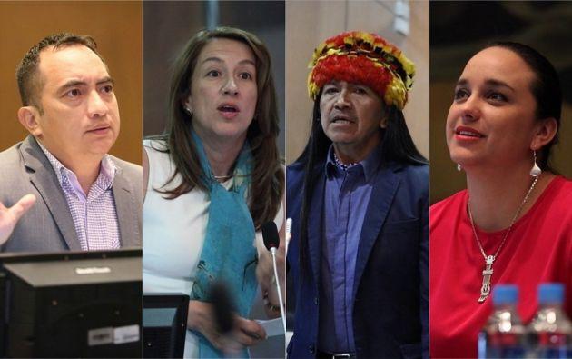 En la foto: los asambleístas Yofre Poma, Soledad Buendía, Carlos Viteri y Gabriela Rivadeneira.|  Collage Vistazo