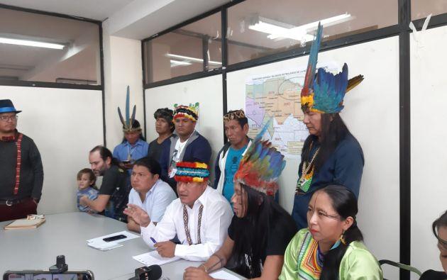 """""""No más expansión de la frontera petrolera, es hora de declarar a la Amazonía centro sur libre de extractivismo"""", dijo Jaime Vargas."""