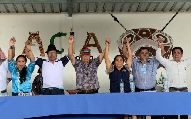 Hoy se realizó la Asamblea Extraordinaria de la Confederación de Nacionalidades Indígenas de la Amazonía Ecuatoriana en Pastaza.