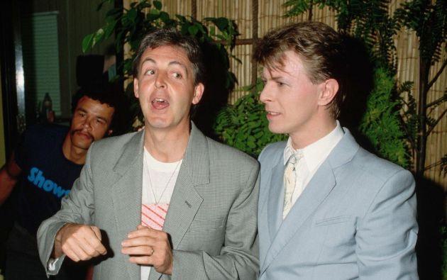 Paul McCartney y David Bowie.