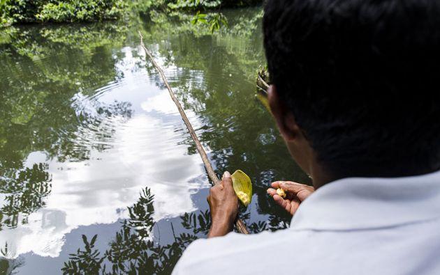 En los ríos Aguarico y Cuyabeno se capturan peces con métodos tradicionales.